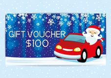 Gift voucher with Santa Claus. Royalty Free Stock Photo
