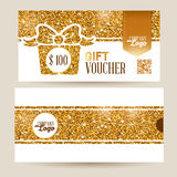 Gift voucher set Royalty Free Stock Image