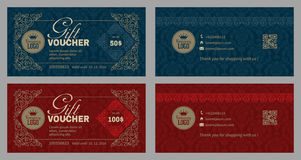 Gift Voucher Set Stock Photos