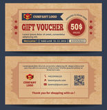 Gift voucher set Stock Photography