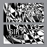 Gift Voucher Template with the abstract in the background. Vecto Royalty Free Stock Photography
