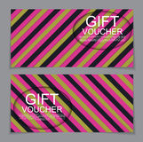 Gift Voucher Template with abstract background. Vector Illustrat. Ion. EPS10 stock illustration