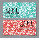 Gift Voucher Template with abstract background. Vector Illustrat Royalty Free Stock Photo