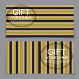 Gift Voucher Template with abstract background. Vector Illustrat Royalty Free Stock Photography