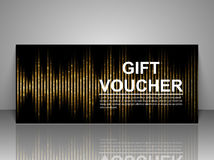 Gift voucher template. Abstract futuristic background. Vector illustration royalty free illustration