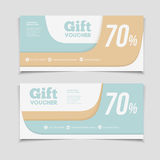 Gift voucher template with amount of discount and Contact Inform Royalty Free Stock Image