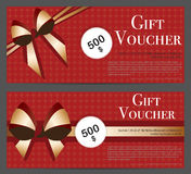 Gift Voucher Template for Background Royalty Free Stock Images