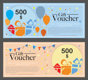 Gift Voucher Template Background Stock Image