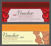 Gift Voucher Template Background Stock Photo