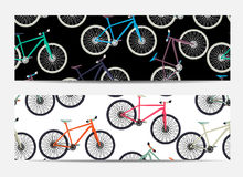 Gift Voucher Template with Bicycles in the background. Vector Il Stock Images