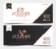 Gift Voucher Template Royalty Free Stock Photos