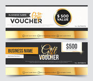Gift Voucher Template Stock Image