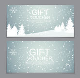 Gift Voucher Template for Christmas and New Year Discount Coupon. Vector Illustration EPS10 Stock Photography