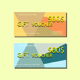 Gift Voucher Template With colorful Abstract Texture For your Designt. Royalty Free Stock Photography