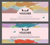 Gift Voucher Template with Colorful Brush Royalty Free Stock Photography