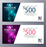 Gift voucher template with colorful modern style Stock Images