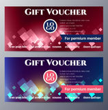 Gift voucher template with colorful modern style Stock Image