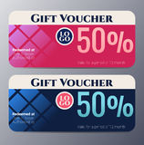 Gift voucher template with colorful modern style Royalty Free Stock Photography