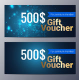 Gift voucher template with colorful modern style Royalty Free Stock Image