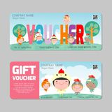 Gift Voucher template with colorful pattern. bright concept. voucher Happy New Year Vector illustration. Gift Voucher template with colorful pattern. bright stock illustration