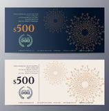 Gift voucher template with colorful pattern Stock Images