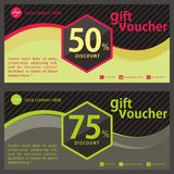 Gift Voucher Template, Coupon Design. Gift voucher template or coupon design with simple design Royalty Free Stock Image