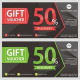 Gift Voucher Template Design. Voucher design with black background Royalty Free Stock Image