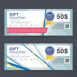 Gift Voucher Template Design concept for gift coupon Royalty Free Stock Images