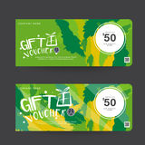Gift Voucher Template Design concept for gift coupon. Gift Voucher Premier Vector gift voucher template ribbons. Golden, Design concept for gift coupon Royalty Free Stock Photos