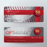 Gift Voucher Template Design concept for gift coupon. Gift Voucher Premier Vector gift voucher template ribbons. Golden, Design concept for gift coupon Stock Photos