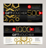 Gift voucher template Royalty Free Stock Photography