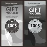 Gift Voucher Template Design. Voucher template design inspiration with luxury design Royalty Free Stock Photos