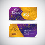 Gift Voucher template design Vector Royalty Free Stock Photo
