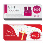 Gift Voucher Template Designs Stock Image