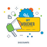 Gift voucher template. Discounts coupon. Stock Image