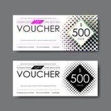 Gift voucher template, vector Royalty Free Stock Photos