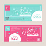 Gift voucher template. Eps10 vector format Royalty Free Stock Photo