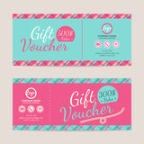 Gift voucher template. Eps10 vector format Stock Photo