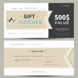 Gift voucher template. Flat design Royalty Free Stock Photography