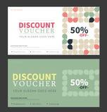 Gift voucher template. Flat design Stock Photos