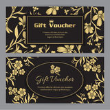 Gift voucher template with floral pattern Stock Image