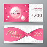 Gift voucher template. promotion card, Coupon design.  Royalty Free Stock Photo
