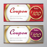 Gift voucher template. promotion card, Coupon design. vector stock Stock Photo