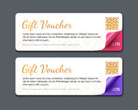 Gift voucher template, realistic vector illustration Royalty Free Stock Image