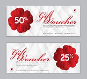 Gift Voucher template, Sale banner, Horizontal layout, discount cards, headers, website, red background, vector illustration vector illustration