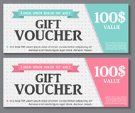 Gift Voucher Template with Sample Text Vector Stock Photos