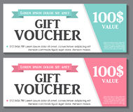 Gift Voucher Template with Sample Text Vector Royalty Free Stock Photos