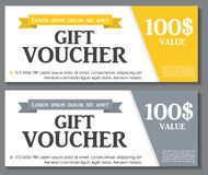 Gift Voucher Template with Sample Text Vector Royalty Free Stock Photo