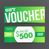 Gift voucher template set. Royalty Free Stock Image