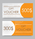 Gift voucher template Royalty Free Stock Images